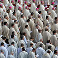 hundreds of priests at St. Peter Square