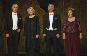 "Billy Connolly, Maggie Smith, Tom Courtenay and Pauline Collins star in a scene from the movie ""Quartet."" The Catholic News Service classification is A-III -- adults. The Motion Picture Association of America rating is PG-13 -- parents strongly cautioned . Some material may be in appropriate for children under 13. (CNS photo/Weinstein)"