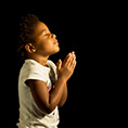 young girl at prayer