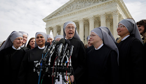 Little Sisters of the Poor in front of the Supreme Court