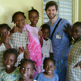 Heyne is pictured with a group of orphans that he cared for during a mission trip.(Photo Courtesy Tommy Heyne)