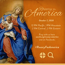 graphic of Rosary for America