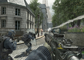 "This is a still from the video game ""Call of Duty: Modern Warfare 3."" Violent video games were cited as an aggravating factor by some even before it was discovered that Adam Lanza was an avid fan of the ""Call of Duty"" franchise. Lanza, 20, was the gunma n who took the lives of 20 children and six educators Dec. 14 at Sandy Hook Elementary School in Newtown, Conn., before turning the gun on himself. (CNS photo/Activision)"