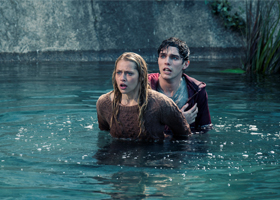 "Teresa Palmer and Nicholas Hoult star in a scene from the movie ""Warm Bodies."" The Catholic News Service classification is A-III -- adults. The Motion Picture Association of America rating is PG-13 -- parents strongly cautioned. Some material may be ina ppropriate for children under 13. (CNS/Summit Entertainment)"