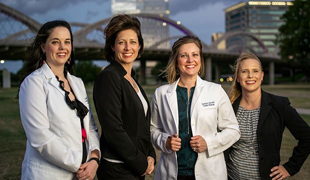 Dr. Sally Kurz, president Nicole Havrilla, Dr. Melissa Weidert, and practice manager Jessica Rodriguez, RN. (NTC/Juan Guajardo)
