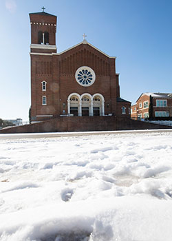 St. Mary of the Assumption in the snow